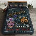 Happy Halloween Trick Or Treat Bed Sheets Duvet Cover Bedding Set Great Gifts For Birthday Christmas Thanksgiving