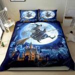 Halloween Witch Bedding Set   (Duvet Cover & Pillow Cases)