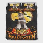 Schnauzer Dog Happy Halloween Cotton Bed Sheets Spread Comforter Duvet Cover Bedding Sets