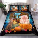 Pig Halloween Bed Sheets Spread Comforter Duvet Cover Bedding Sets