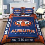 Auburn Tigers Sleepy Halloween And Christmas Customize Duvet Cover Bedding Set