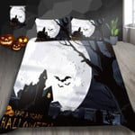 Halloween Castle Night Bed Sheets Duvet Cover Bedding Set Great Gifts For Birthday Christmas Thanksgiving