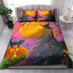 Halloween Witch And Cat Bed Sheets Spread Comforter Duvet Cover Bedding Sets