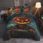Halloween Pumpkin Killer Bedding Set Cotton Bed Sheets Spread Comforter Duvet Cover Bedding Sets