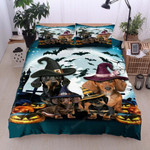Dachshund Halloween Cotton Bed Sheets Spread Comforter Duvet Cover Bedding Sets