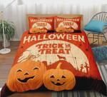 Pumpkin Trick Or Treat Halloween Cotton Bed Sheets Spread Comforter Duvet Cover Bedding Sets Halloween