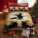 Witch Black Cat Bed Sheets Duvet Cover Bedding Set Great Gifts For Halloween