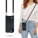 Classic Luxurious Crossbody Wallet Phone Case (with Leather Strap)