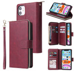 Classic 9 Card Slots Wallet Phone Case
