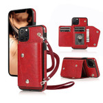 Classic Fashion Wallet Phone Case (with long strap)