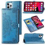 Mandala Leather Wallet Phone Case
