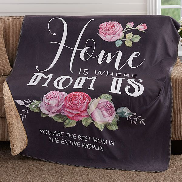 personalized blanket for mom